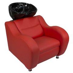 Парикмахерская мойка МД-124, комфортное сиденье с широкими подлокотниками