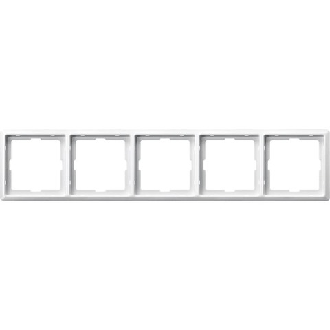 Рамка на 5 постов. Цвет Полярный белый. Merten. Artec System Design. MTN481519