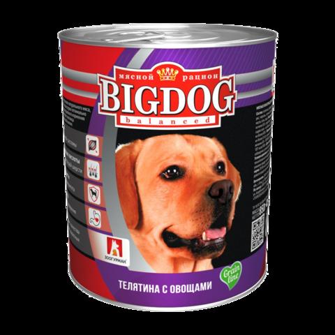 Зоогурман Big dog Консервы для собак с телятиной и овощами