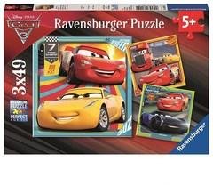 Puzzle DCA:AT Disney Cars 3 3x49 pcs