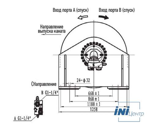 Стандартная лебедка IYJ477-320-260-40-ZPG
