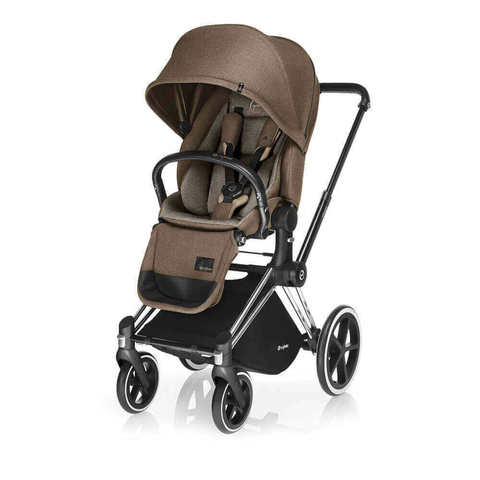 Прогулочная коляска Cybex Priam Lux Cashmere Beige шасси Chrome/All Terrain