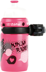 Фляга детская с держателем Zefal Little Z-Ninja Girl розовый