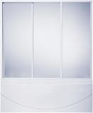 шторки для ванной 140см Тесса, 3-х створчатая, Пластик, 140см