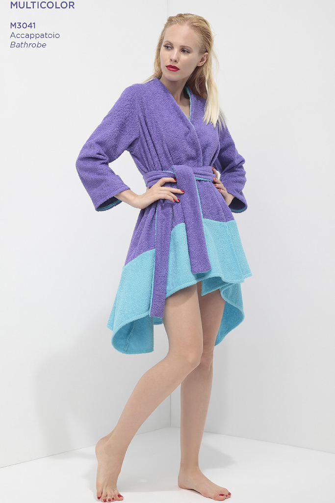 Стильный короткий махровый халат Luna di Giorno