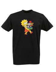 Футболка с принтом мультфильма Симпсоны (The Simpsons) черная 003