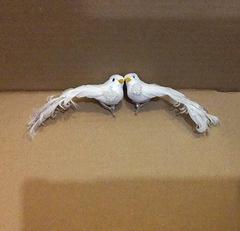 Птички Голуби, 10,5-14 см, на прищепке.