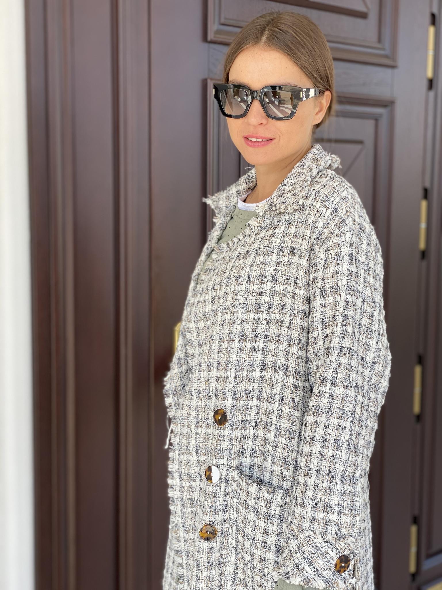 Пальто, WIYA, My Tweed (белый)