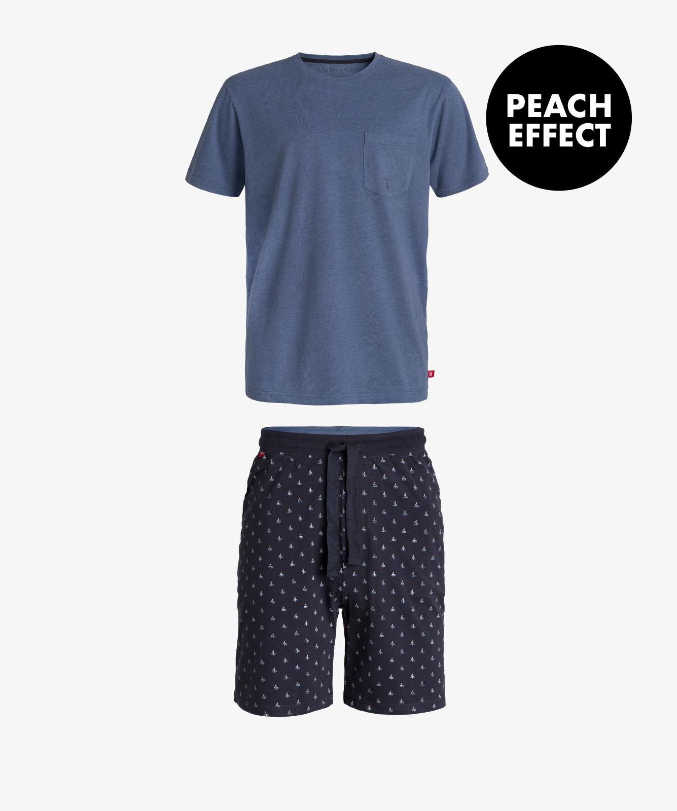 Мужская пижама Atlantic, 1 шт. в уп., хлопок, светло-голубой меланж, NMP-343
