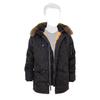 Куртка Аляска Slim Fit N-3B RF натуральный мех (черная - black)