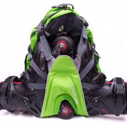 Картинка рюкзак для роликов Deuter Winx 20 Granite-Papaya - 3