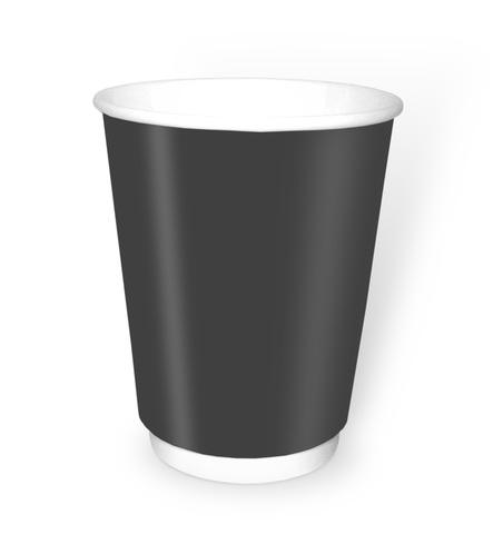 Стакан бумажный 2сл 350 (400) мл d=90мм черный
