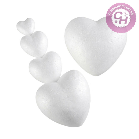 Сердце из пенопласта 6 см, 1 шт.