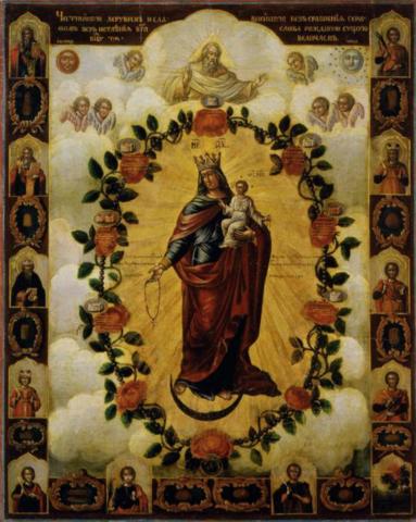 Икона Богородицы Честнейшая Херувим на дереве на левкасе мастерская Иконный Дом