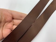 Репсовая лента (сантюр) 25мм, шоколад