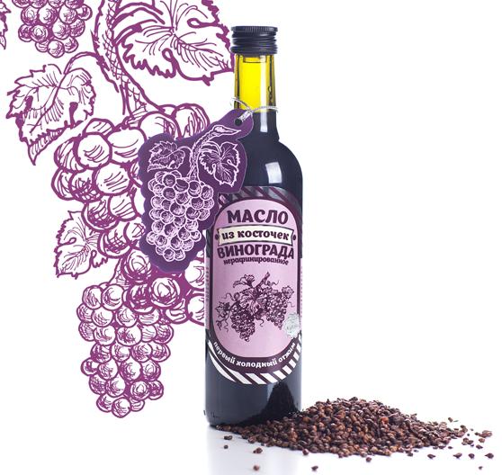 Масло из виноградных косточек нерафинированное Валиса 375 мл