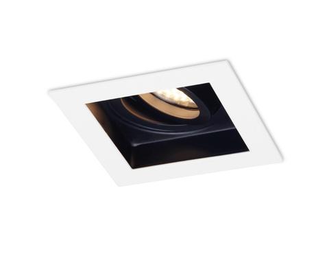 Встраиваемый поворотный точечный светильник TN181 WH/BK белый/черный GU5.3 100*100*40
