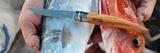 Нож складной филейный Opinel №8 VRI Folding Slim Olivewood
