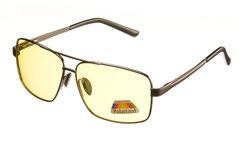 Металлические очки с желтыми поляризованными линзами
