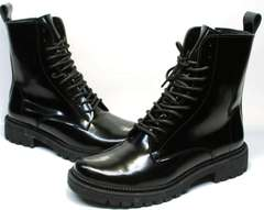 Зимние теплые ботинки с мехом внутри женские Ari Andano 740 All Black.