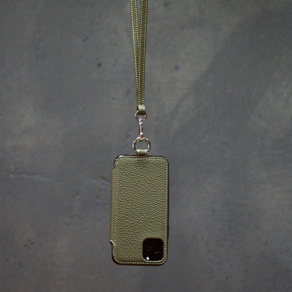 Чехол Marcel для iPhone 11 Pro из натуральной кожи теленка, зеленого цвета