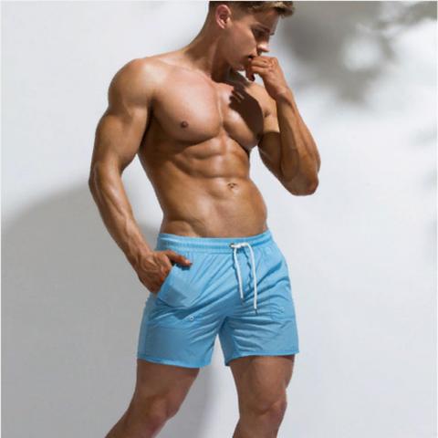 Мужские шорты голубые UXH B9208