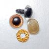 Глазки сверкающие оранжевые 14 мм (1 пара)