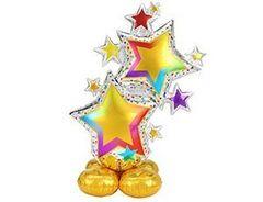 А Фигура, Звезды разноцветные, на подставке, 34