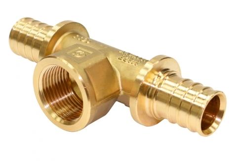 Тройник-переходник с внутренней резьбой STOUT для труб из сшитого полиэтилена