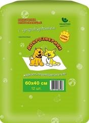 Подстилки впитывающие для животных с суперабсорбентом 60х60 см, 5 шт., Доброзверики «Сухие лапки»