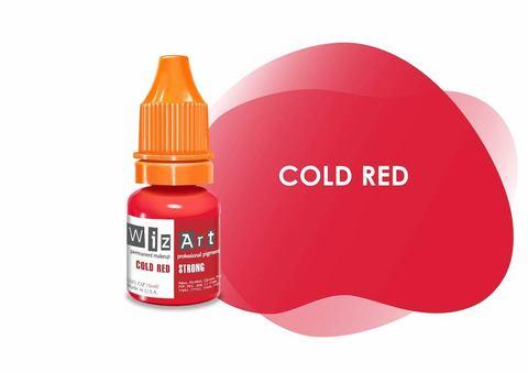 Cold Red (холодный красный) • Wizart Strong • пигмент для губ