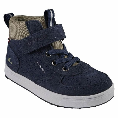 Полуботинки Viking Samuel Mid WP Jr Navy/Olive демисезонные