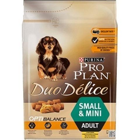 Pro Plan Duo Delice Optibalance сухой корм для взрослых собак мелких и карликовых пород с курицей и рисом