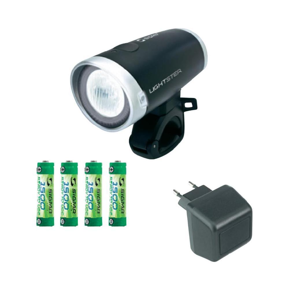 Комплект фар SIGMA LIGHTSTER передняя, с аккумулятором, 1500 mAh и адаптером