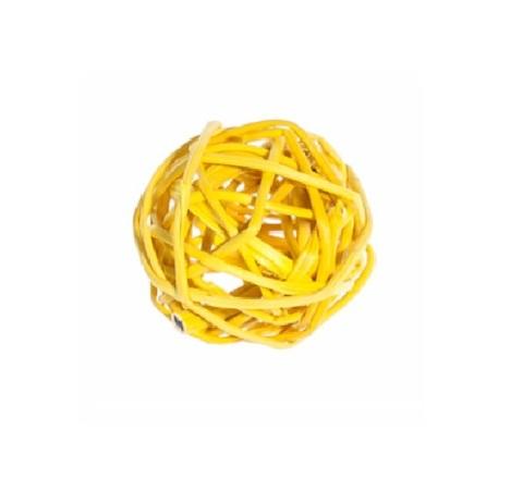 Плетеные шары из ротанга (набор:12 шт., d3см, цвет: желтый)
