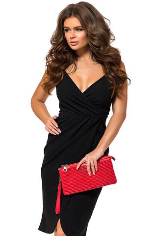 Платье комбинация, черное