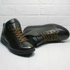 Коричневые мужские кеды ботинки натуральная кожа Ikoc 1770-5 B-Brown.