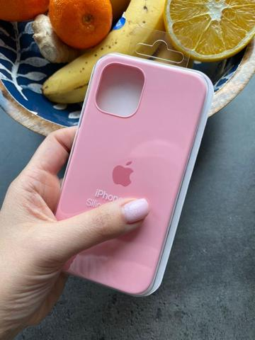 Чехол iPhone 12 (6,1) Silicone Case Full /light pink/