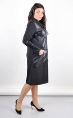 Поліна. Комбіноване плаття для великих розмірів. Чорний.