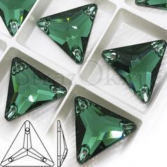 Купить пришивные стразы DeLux Emerald, Triangle в Казани