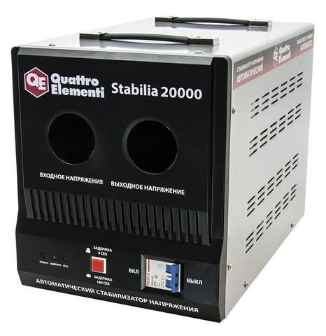 Стабилизатор напряжения QUATTRO ELEMENTI Stabilia 20000 (20000 ВА, 140-270 В, 25.5 кг, бай (241-505)