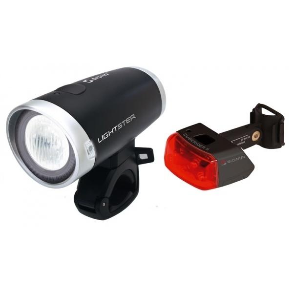 Комплект фар SIGMA LIGHTSTER,CuberiderII  передняя,задняя, с батарейками