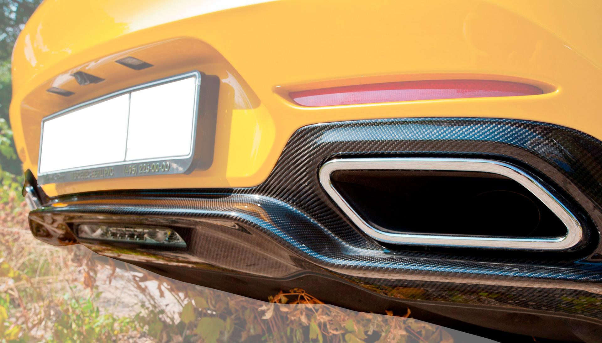 Карбоновый диффузор Edition 1 Style для Mercedes GT-class C190