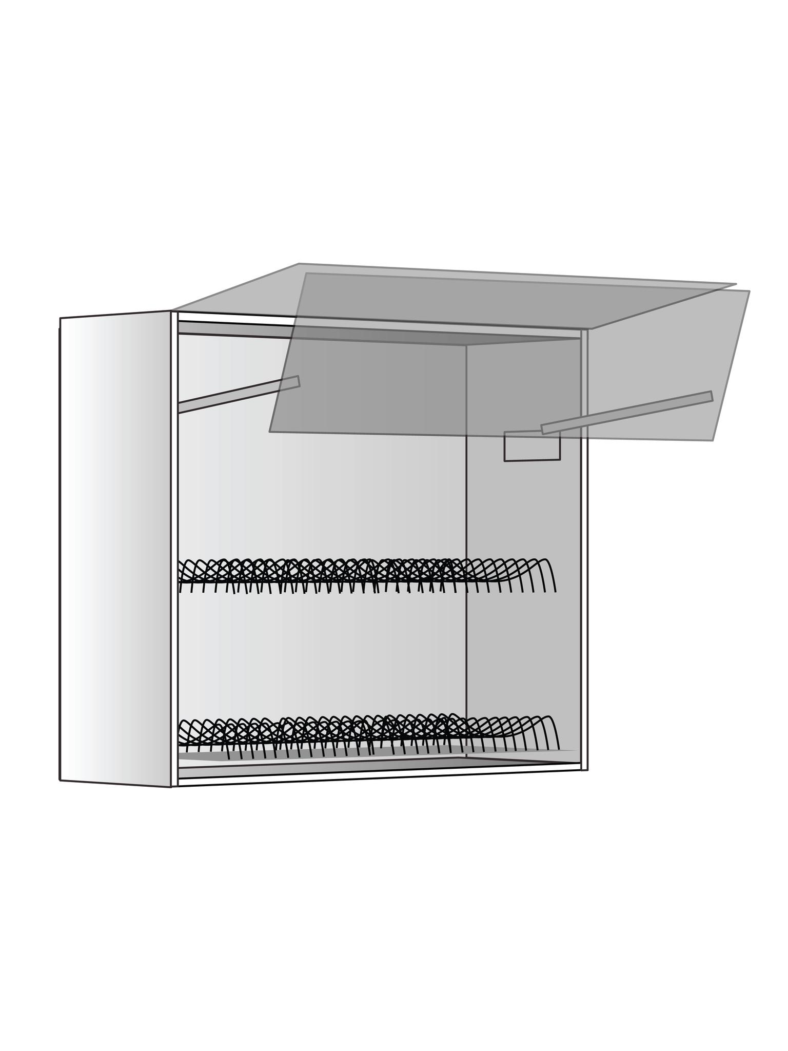 Верхний шкаф c сушилкой и подъемником, 720Х800 мм
