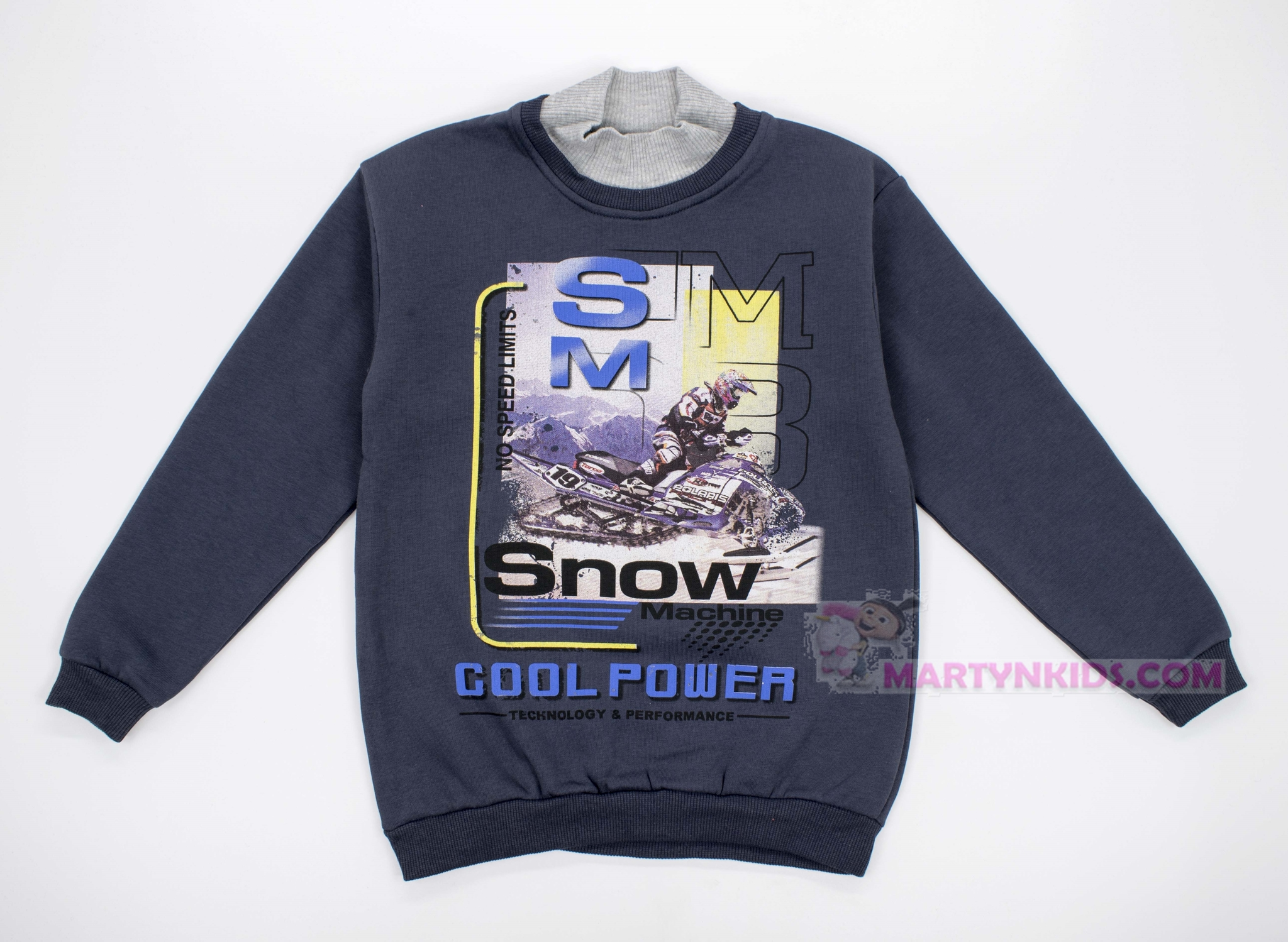 2906 толстовка-водолазка  начес SM Snow