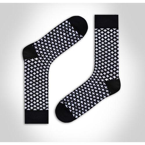 Носки мужские черно-белые DARKZONE DZCP0307