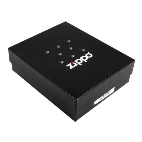 Зажигалка Zippo Wolf с покрытием Black Ice ®, латунь/сталь, чёрная, глянцевая, 36x12x56 мм