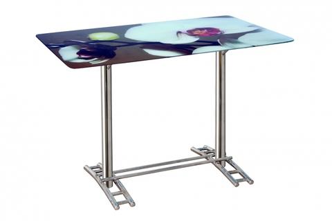Черный стеклянный стол для кухни Элегия