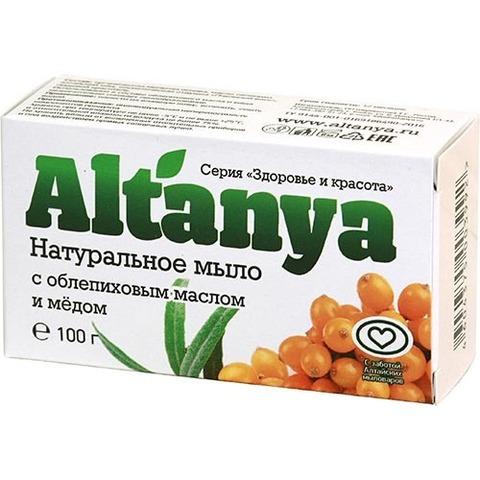 Натуральное мыло с облепиховым маслом и медом, 100 г