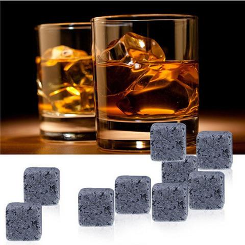 Камни для виски - в подарочной упаковке 9 кубиков + мешочек